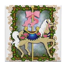 Flower Carousel Tile Coaster