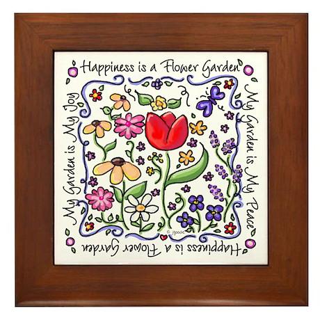 My Garden, My Joy Framed Tile