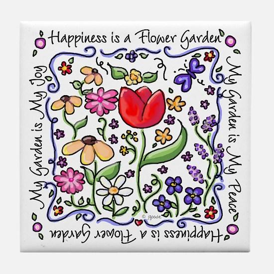 My Garden, My Joy Tile Coaster