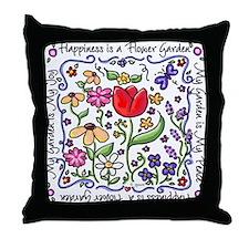 My Garden, My Joy Throw Pillow
