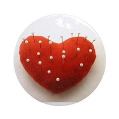 Heart and pins Ornament (Round)