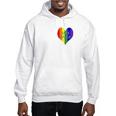 Safe Space In Heart Hooded Sweatshirt