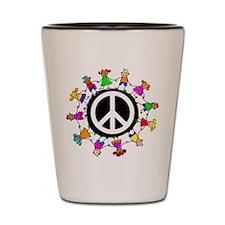 Peace Kids Shot Glass
