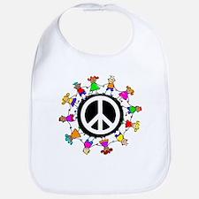 Peace Kids Bib