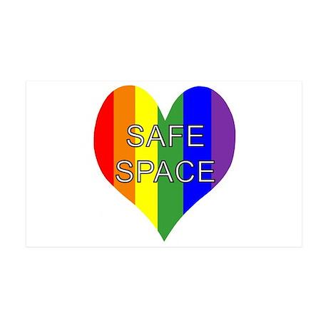 Safe Space In Heart 38.5 x 24.5 Wall Peel