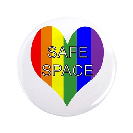 "Safe Space In Heart 3.5"" Button"