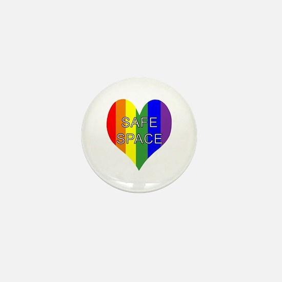 Safe Space In Heart Mini Button