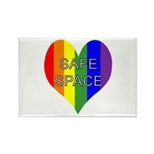 Safe Space In Heart Rectangle Magnet (100 pack)