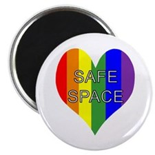 """Safe Space In Heart 2.25"""" Magnet (100 pack)"""