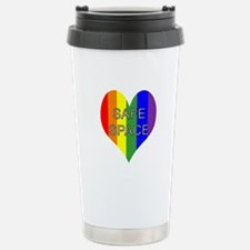 Safe Space In Heart Stainless Steel Travel Mug
