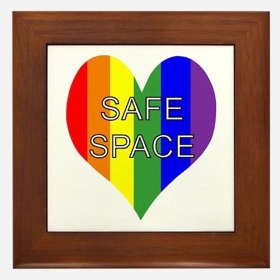 Safe Space In Heart Framed Tile