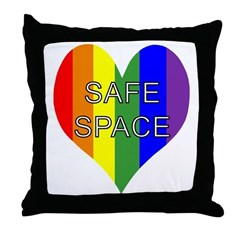 Safe Space In Heart Throw Pillow