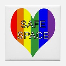 Safe Space In Heart Tile Coaster