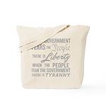 Jefferson on Liberty Tote Bag