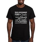 Jefferson on Liberty Men's Fitted T-Shirt (dark)