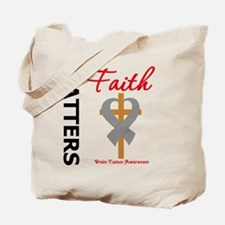 Brain Tumor Faith Matters Tote Bag