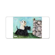 SCOTTIES and FEATHERED FRIEND Aluminum License Pla