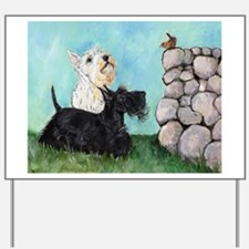 SCOTTIES and FEATHERED FRIEND Yard Sign