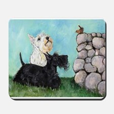 SCOTTIES and FEATHERED FRIEND Mousepad