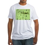 I Love Grass Fitted T-Shirt