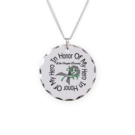 Brain Tumor Hero Necklace Circle Charm