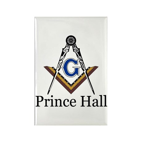 Prince Hall Square and Compass Rectangle Magnet