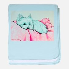 Sleepy Westie baby blanket