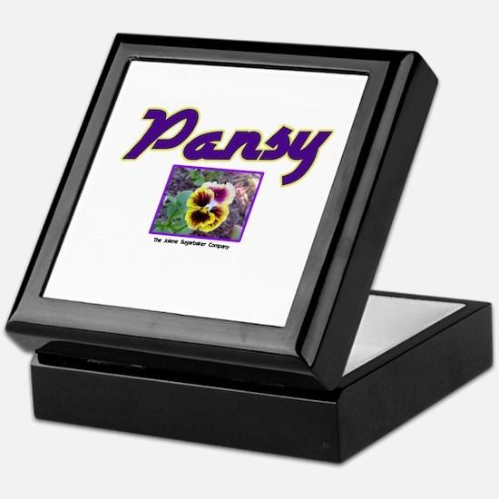 Pansy Keepsake Box