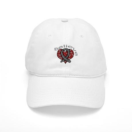 Brain Tumor Believe Heart Cap