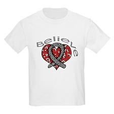 Brain Tumor Believe Heart T-Shirt