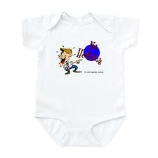 No Heckling Comedian Infant Creeper
