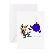 No Heckling Comedian Greeting Cards (Pk of 10)