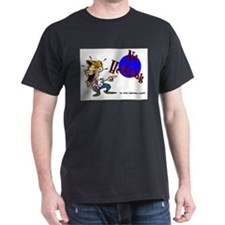 No Heckling Comedian Black T-Shirt