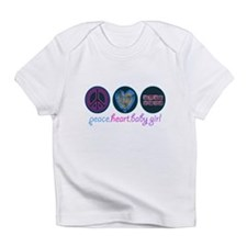 PEACE HEART BABY GIRL Infant T-Shirt