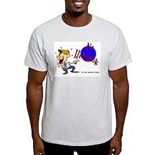 No Heckling Comedian Ash Grey T-Shirt