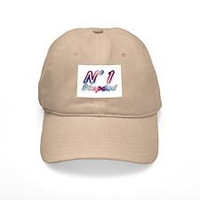 No 1 Stepdad Khaki Baseball Cap