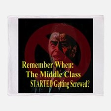 Reagan Screwed Middle Class Throw Blanket