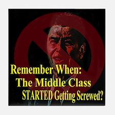 Reagan Screwed Middle Class Tile Coaster