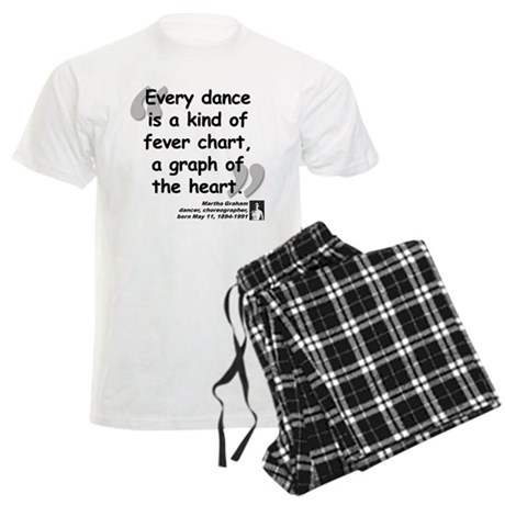 Graham Dance Quote Men's Light Pajamas