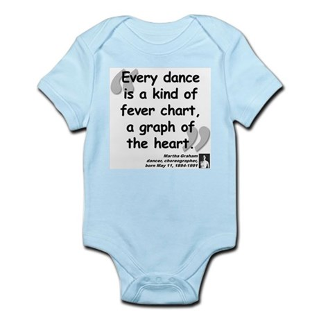 Graham Dance Quote Infant Bodysuit