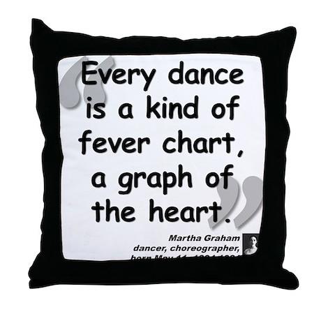 Graham Dance Quote Throw Pillow