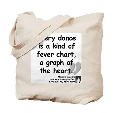 Graham Dance Quote Tote Bag
