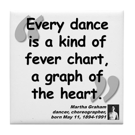 Graham Dance Quote Tile Coaster