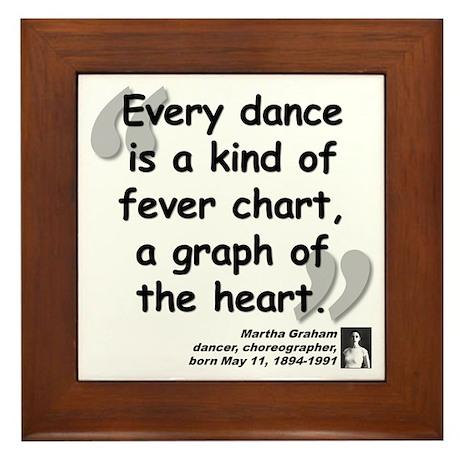 Graham Dance Quote Framed Tile