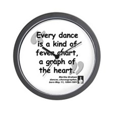 Graham Dance Quote Wall Clock
