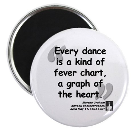 "Graham Dance Quote 2.25"" Magnet (10 pack)"