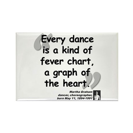 Graham Dance Quote Rectangle Magnet (10 pack)