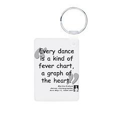 Graham Dance Quote Aluminum Photo Keychain