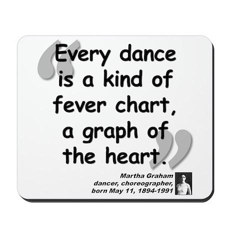 Graham Dance Quote Mousepad