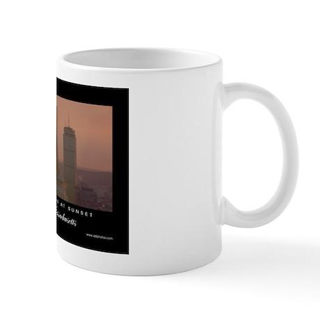 Boston Skyline at Sunset - Mug